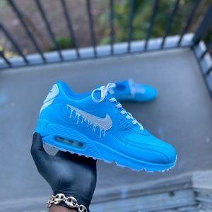 Custom Baby blue Airmax 90 drip